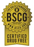 Max Nutritional Supplements certified drug free by BSCG for use by professional athletes
