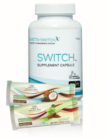 Max Weight Management for a Healthy Lifestyle with Metaswitch capsules and Be Fiber Protein Snack Bars