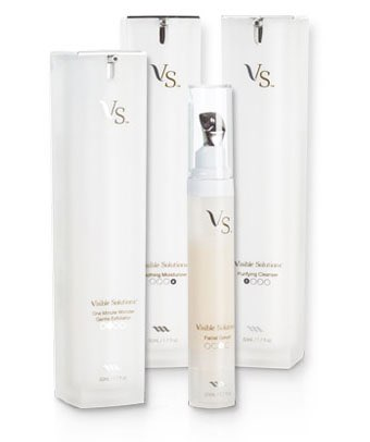 Visible Solutions complete skin care system from Max International cleanses  exfoliates and moistens your skin